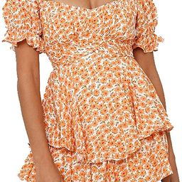 Murimia Women's Summer V-Neck Floral Spaghetti Strap Short Rompers and Jumpsuits | Amazon (US)
