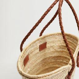 Basket bag with braided straps   MANGO (US)