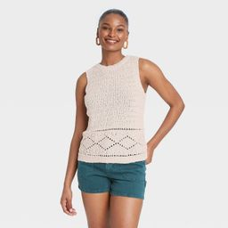 Women's Pointelle Crewneck Sweater Tank - Universal Thread™ | Target
