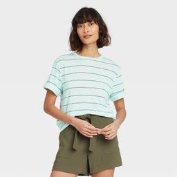 Women's Short Sleeve Linen T-Shirt - A New Day™ | Target