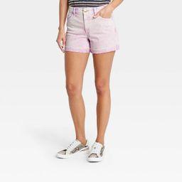 Women's High-Rise Midi Jean Shorts - Universal Thread™ Acid Wash Purple   Target