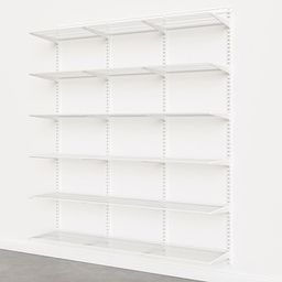 Elfa Classic White 6' Basic Shelving Units for Anywhere | The Container Store