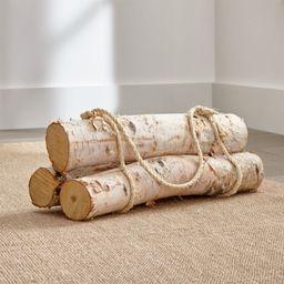 Birch Logs, Set of 3 + Reviews | Crate and Barrel | Crate & Barrel