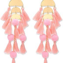 Long Tassel Earrings Statement Fringe Drop Bohemian Earrings Big Dangle for Women Fashion   Amazon (US)