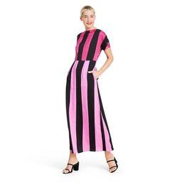 Mixed Stripe Short Sleeve Dress - Christopher John Rogers for Target Pink/Black | Target