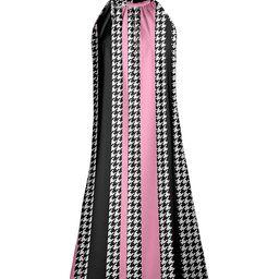 Lily Women's Casual Dresses BLK - Black & Pink Stripe & Houndstooth Halter Dress - Women | Zulily