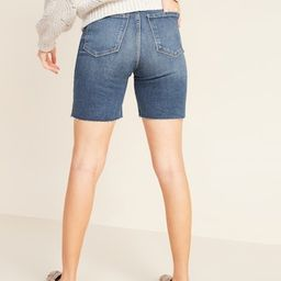 Extra High-Waisted Sky-Hi Cut-Off Jean Shorts for Women -- 7-inch inseam | Old Navy (US)