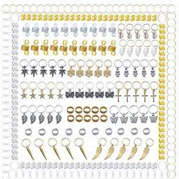 300 Pieces Hair Cuffs 20 Styles Aluminum Dreadlocks Beads Metal Hair Braid Rings Pendant Charms H...   Amazon (US)