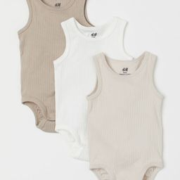 Sleeveless bodysuits in soft cotton jersey. Snap fasteners at gusset. | H&M (US)