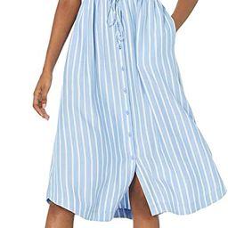 Amazon Essentials Women's Feminine Half Sleeve Waisted Midi A-line Dress   Amazon (US)