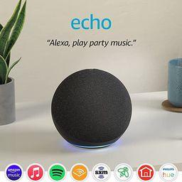 Echo (4th Gen)   With premium sound, smart home hub, and Alexa   Charcoal   Amazon (US)