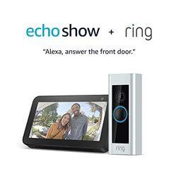 Certified Refurbished Ring Video Doorbell Pro with Certified Refurbished Echo Show 5 (Charcoal)   Amazon (US)