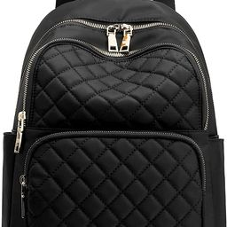 Backpack for Women, Nylon Travel Backpack Purse Black Small School Bag for Girls (Black Quilted)   Amazon (US)
