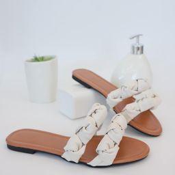 Minimalist Braided Design Slide Sandals | SHEIN