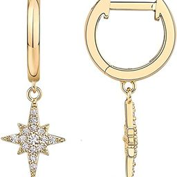PAVOI 14K Gold Plated S925 Sterling Silver Post Drop/Dangle Huggie Earrings for Women | Dainty Ea... | Amazon (US)