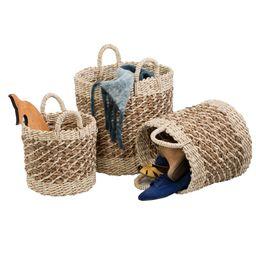 Honey Can Do Coastal Collection Nesting Storage Bins, Natural Weave (Set of 3) | Walmart (US)