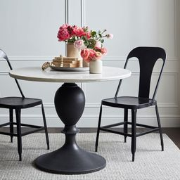 Chapman Round Marble Pedestal Dining Table | Pottery Barn (US)