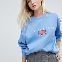 Daisy Street relaxed sweatshirt with vintage los angeles embroidery | ASOS (Global)