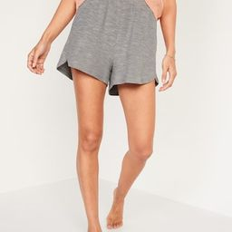 Extra High-Waisted Textured Dolphin-Hem Lounge Shorts for Women -- 3.5-inch inseam   Old Navy (US)