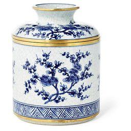 Blossom Tissue Box, Blue/White   One Kings Lane