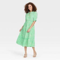 Women's Puff Elbow Sleeve Dress - Who What Wear™ | Target