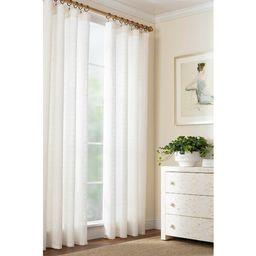 Textured Sheer Dove Solid Sheer Rod Pocket Single Curtain Panel   Wayfair North America