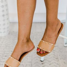 Hattie Tan Studded Sandal | The Pink Lily Boutique