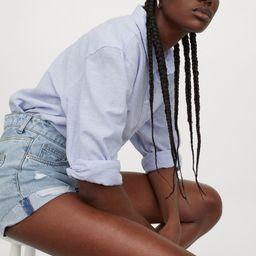 Linen-blend Shirt   H&M (US)