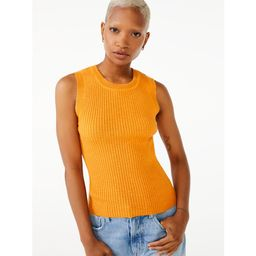 Free Assembly Women's Ribbed Sweater Tank Top   Walmart (US)