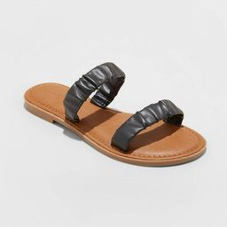 Women's Willow Two Band Scrunched Sandals - Universal Thread™ | Target