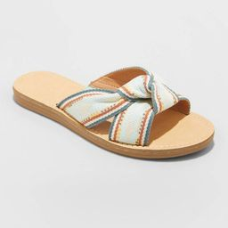 Women's Melody Knotted Slide Sandals - Universal Thread™ | Target