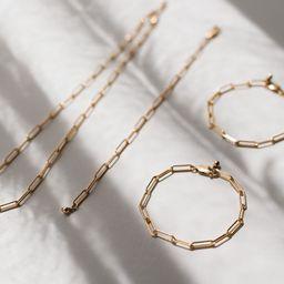 THE MODERN CHAIN BRACELET - GOLD | Stylin by Aylin