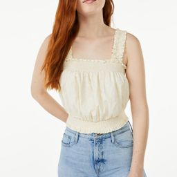 Free Assembly Women's Smocked Cropped Tank Top | Walmart (US)