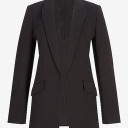 Luxe Comfort Knit Open Front Peak Lapel Boyfriend Blazer | Express