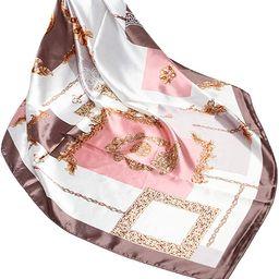 Wander Agio Silk Feeling Scarf Womens Fashion Printing Scarves Pattern Square Satin Face Headscar... | Amazon (US)