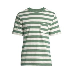 Free Assembly Men's Short Sleeve Striped Pocket T-Shirt   Walmart (US)