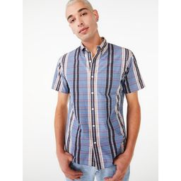 Free Assembly Men's Everyday Button-Down Shirt with Short Sleeves   Walmart (US)
