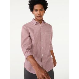Free Assembly Men's Everyday Point Collar Shirt   Walmart (US)