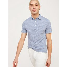 Free Assembly Men's Short Stripe Sleeve Pocket Polo   Walmart (US)