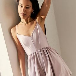 UO Cross-Back Satin Romper   Urban Outfitters (US and RoW)