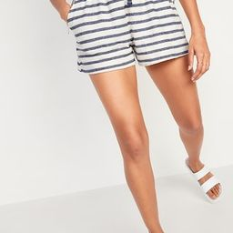 High-Waisted Cali-Fleece Terry Shorts for Women -- 3-inch inseam | Old Navy (US)