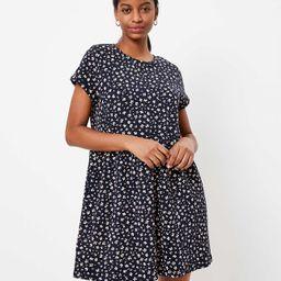 Floral Button Back Swing Dress | LOFT