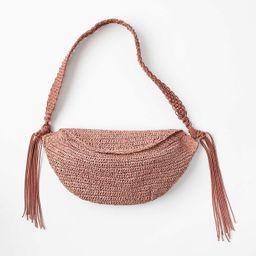 Tasseled Straw Bag   LOFT
