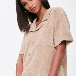 Kendall & Kylie Terrycloth Notched Shirt   Forever 21   Forever 21 (US)