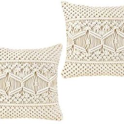 Mkono Throw Pillow Cover Macrame Cushion Case (Pillow Inserts Not Included) Set of 2 Decorative P...   Amazon (US)