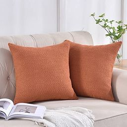 Rythome Set of 2 Cozy Boucle-Like Textured Throw Pillow Covers, Decorative Elegant Accent Pillow ...   Amazon (US)