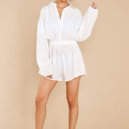 Sunday At The Shore White Cover Up Romper | Red Dress