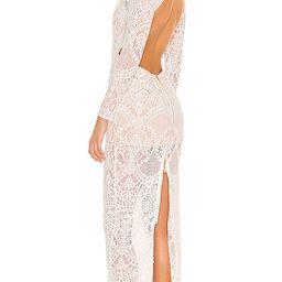 Allegra Blanc Maxi Dress in White | Revolve Clothing (Global)
