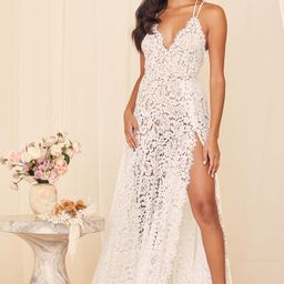 Love of Details White Lace Backless Maxi Dress | Lulus (US)