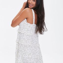 Leaf Print Tiered Mini Dress | Forever 21 | Forever 21 (US)